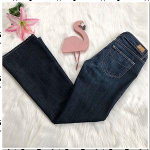 Paige Laurel Canyon Dark Wash Bootcut Jeans 30x31